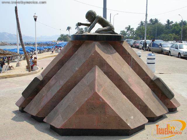 Escultura Niño y Arena