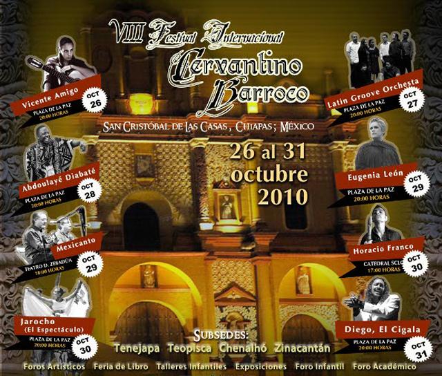 Festival Cervantino Barroco en San Cristóbal de las Casas