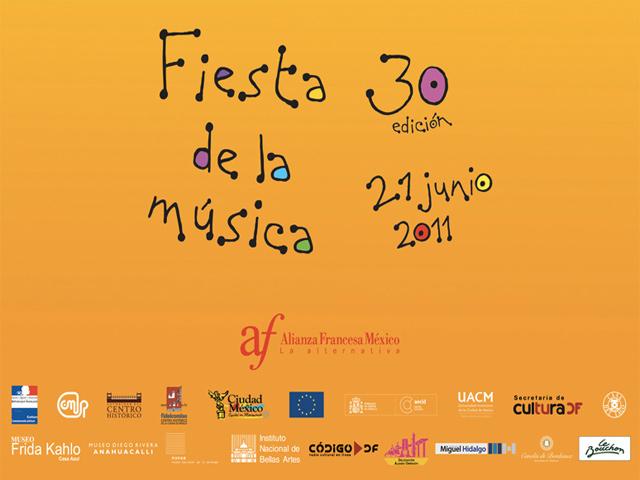 Fiesta de la Música 2011, Conciertos gratuitos en la ciudad de México
