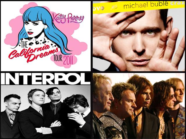 Aerosmith, Katy Perry, Michael Bublé y más, Conciertos 2011 en México
