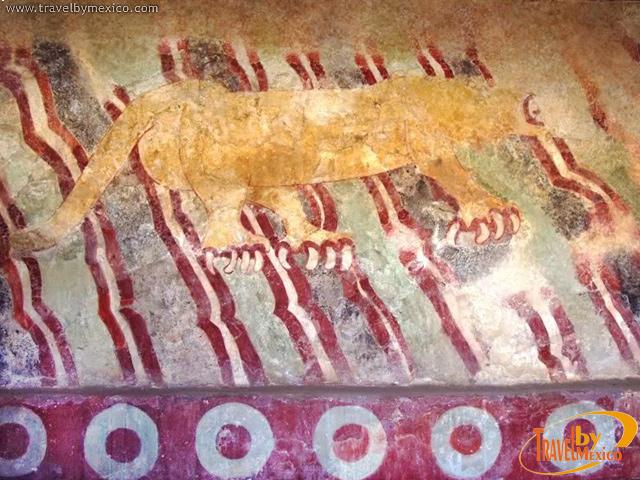 El Palacio de los Jaguares y sus murales en Teotihuacan