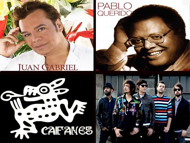 Juan Gabriel, Zoé, Pablo Milanes, Caifanes Conciertos 2011 en México