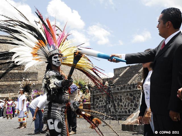 El Fuego Panamericano nació hoy en Teotihuacan