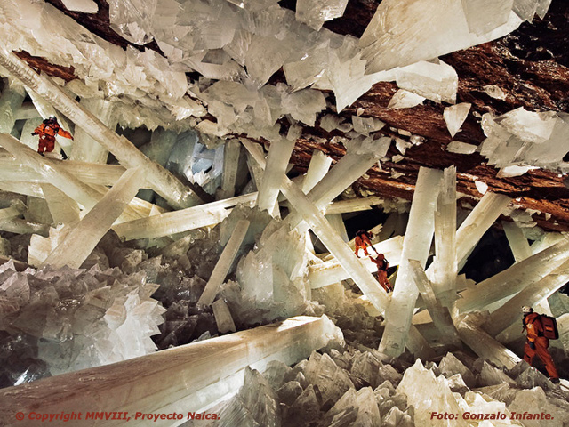 Cuevas de Naica, hogar de cristales gigantescos