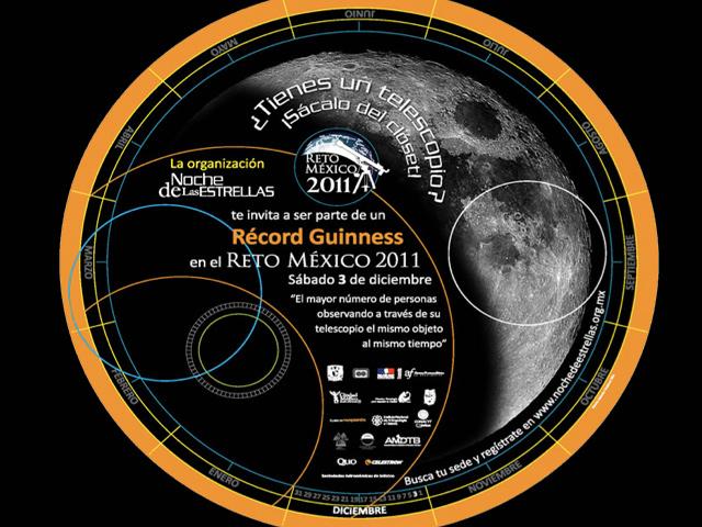 Apunta a la Luna y sé parte del Récord Guinness del Reto México 2011