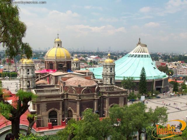 Basílica de Guadalupe en la ciudad de México