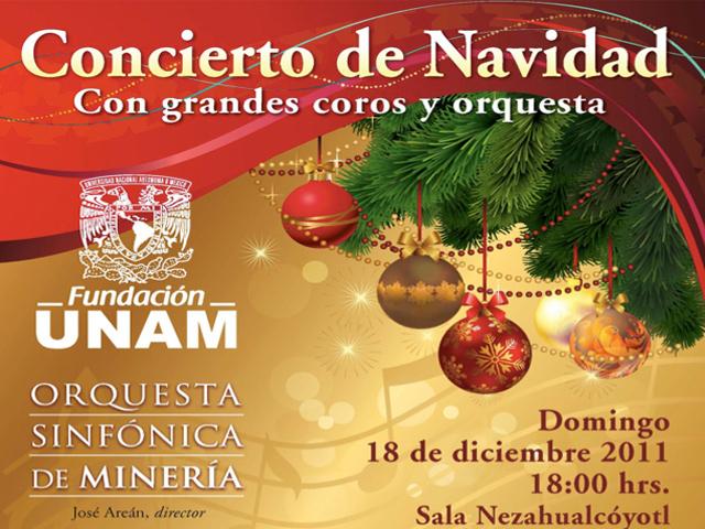 Conciertos de Navidad en la UNAM y el Auditorio Nacional