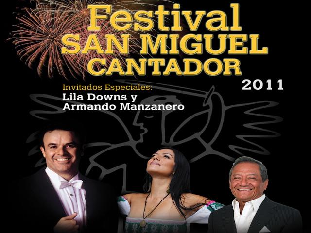 Fernando de la Mora, Lila Downs y Armando Manzanero en concierto de gala