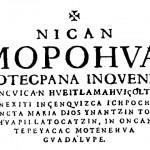 El Nican Mopohua: texto de las apariciones de la Virgen de Guadalupe