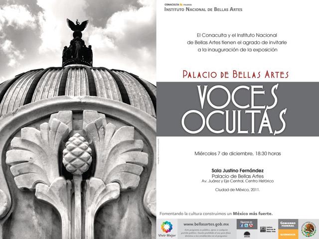 Exposición Voces Ocultas del Palacio de Bellas Artes