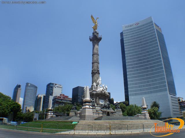 El Ángel de la Independencia en la ciudad de México