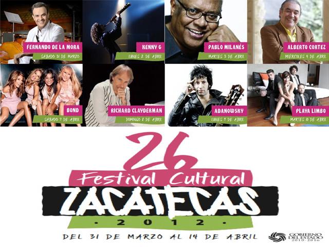 Se presentarán más de 250 artistas en el Festival Cultural Zacatecas 2012