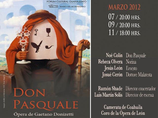 Don Pasquale de Donizetti en el Teatro del Bicentenario