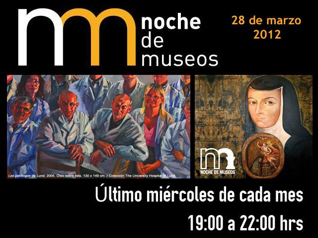 Noche de Museos, Miércoles 28 de marzo de 2012: Museos participantes