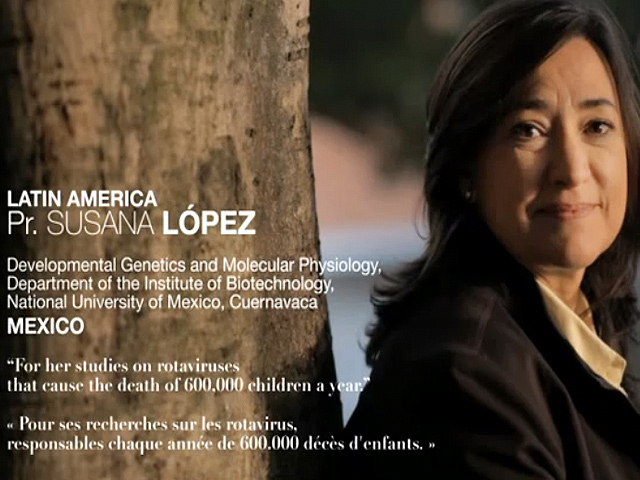 """Científica mexicana recibió el Premio l'Oréal-Unesco 2012 """"La Mujer y la Ciencia"""""""