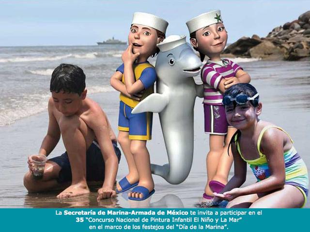 El Niño y La Mar: 35º Concurso Nacional de Pintura Infantil de la Secretaría de Marina