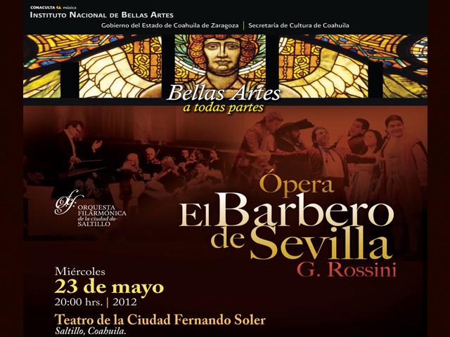 Orquesta Filarmónica de Saltillo presenta El Barbero de Sevilla de Rossini