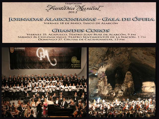 Concierto de los Grandes Coros en las Grutas de Cacahuamilpa