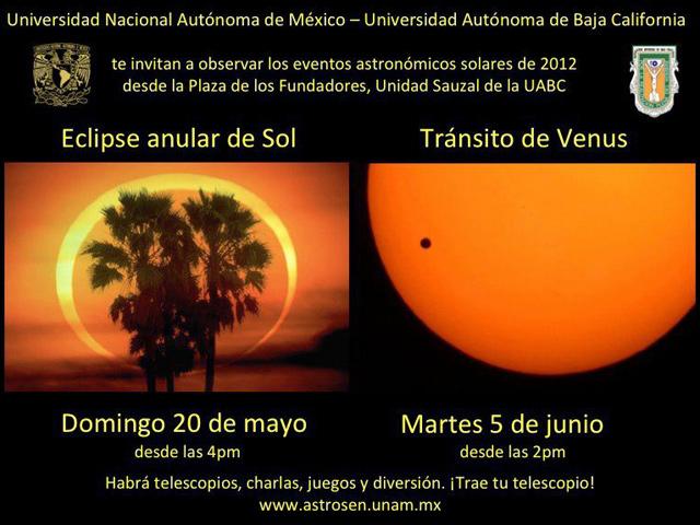 Eclipse Parcial de Sol Domingo 20 de mayo de 2012 en el Norte de México