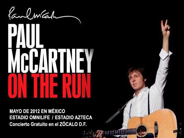 Concierto gratuito de Paul McCartney en el Zócalo capitalino