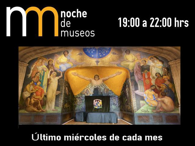 Programa de la Noche de Museos en México del Miércoles 27 de junio de 2012