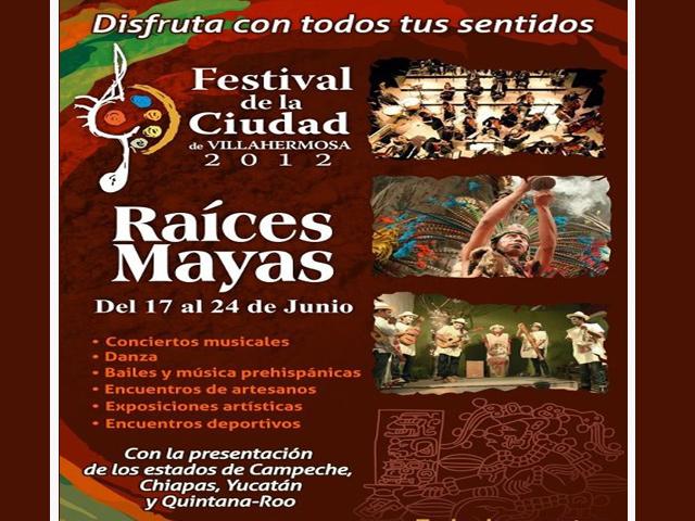 Festival Raíces Mayas 2012 en la Ciudad de Villahermosa