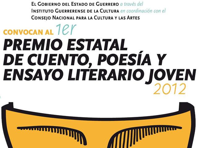 1er. Premio Estatal de Cuento, Poesia y Ensayo Literario Joven 2012 en Guerrero