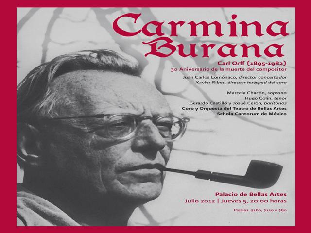 Carmina Burana regresa al Palacio de Bellas Artes el 5 de julio de 2012
