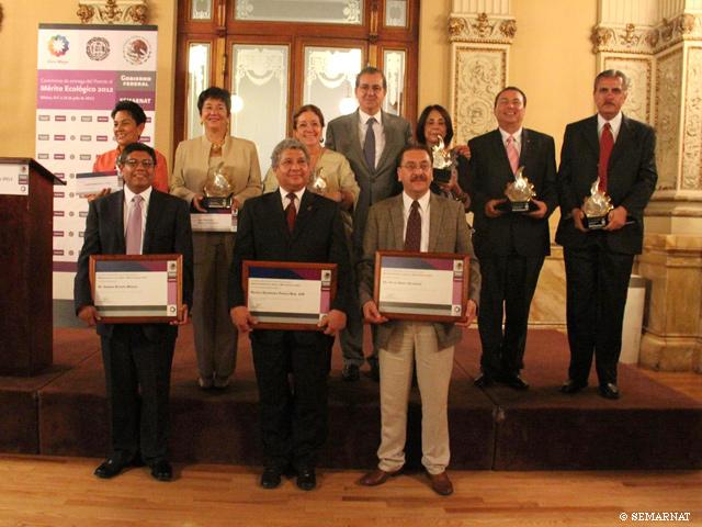Galardonados del Premio al Mérito Ecológico 2012