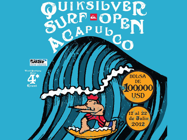Quiksilver Surf Open en Acapulco, julio 2012