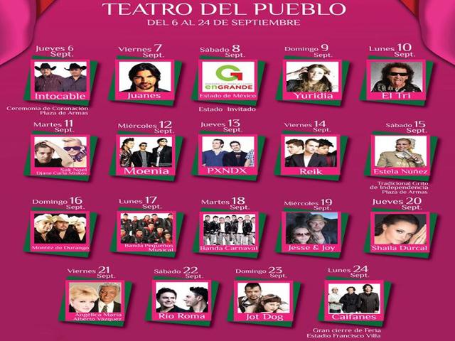 Todos los Conciertos de la FENAZA 2012
