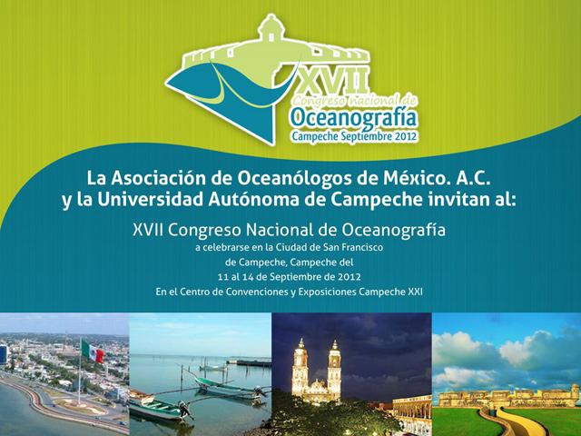 XVII Congreso Nacional de Oceanografía en Campeche