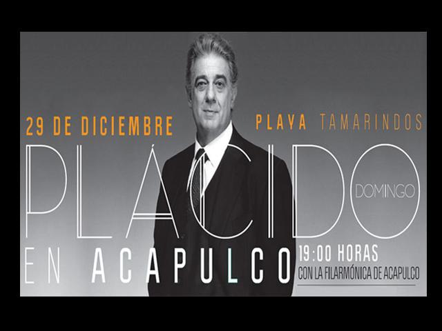 Plácido Domingo dará concierto de beneficencia en Acapulco