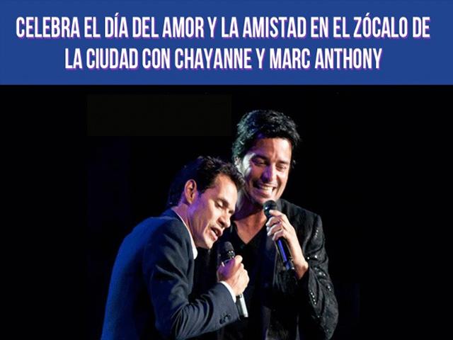 Chayanne y Marc Anthony en concierto gratuito en el Zócalo