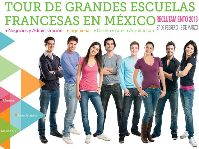 Grandes escuelas francesas reclutarán estudiantes mexicanos