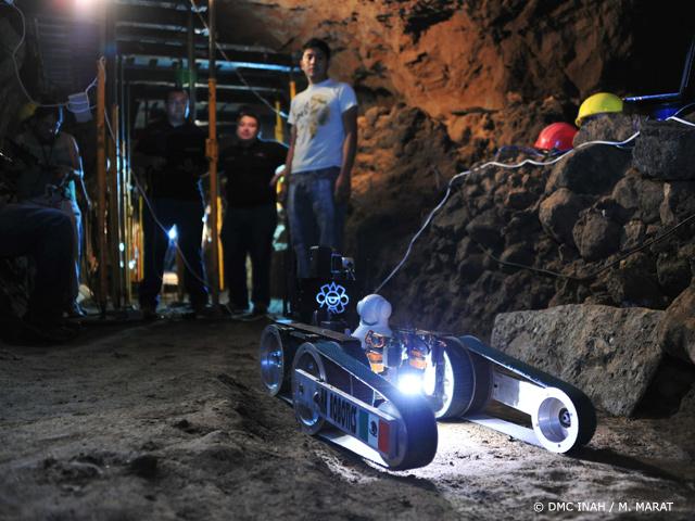 Robot Tláloc II-TC, listo para explorar túnel en Teotihuacan