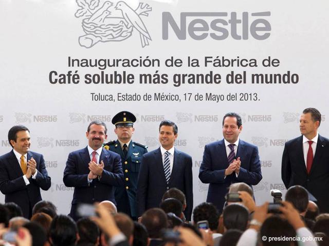 EPN inaugura la fábrica de café soluble más grande del mundo