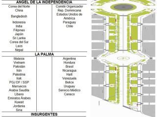 Stands de países invitados Feria Culturas Amigas 2013 entre Angel Independencia y Av. Insurgentes