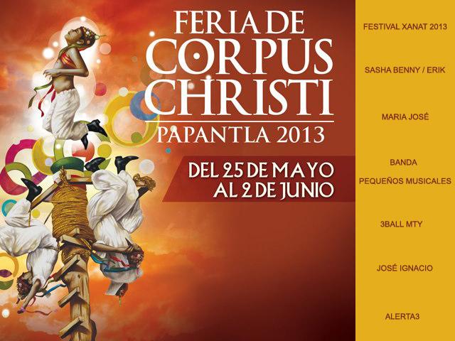 Feria de Corpus Christi 2013 en Papantla