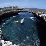 Cráter artificial de la Playa Escondida en las Islas Marietas