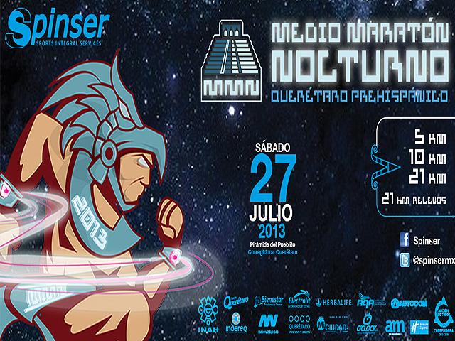Medio Maratón Nocturno Querétaro Prehispánico