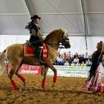 Caballos y bailes andaluces en el Campeonato Nacional Charro