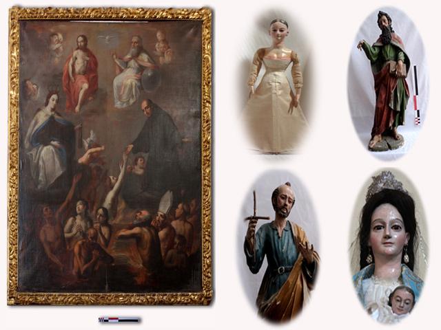 INAH cataloga piezas de Arte Sacro de templos de Durango