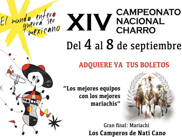 XIV Campeonato Nacional Charro - 4 al 8 de septiembre 2013