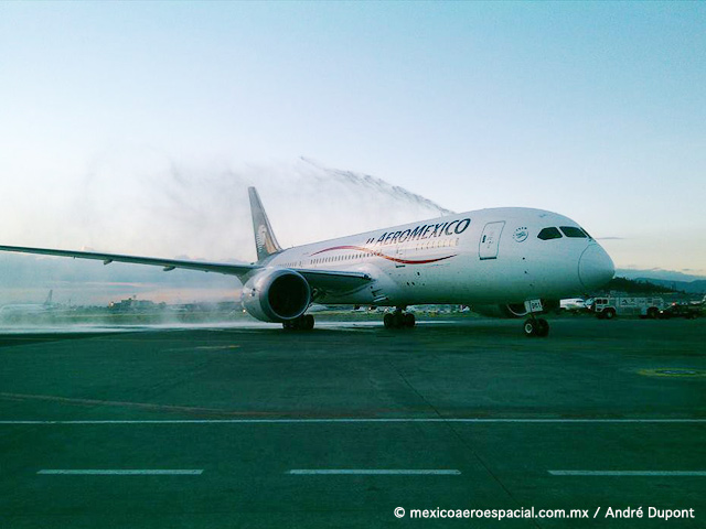 Aeroméxico estrena Boeing 787-8 Dreamliner