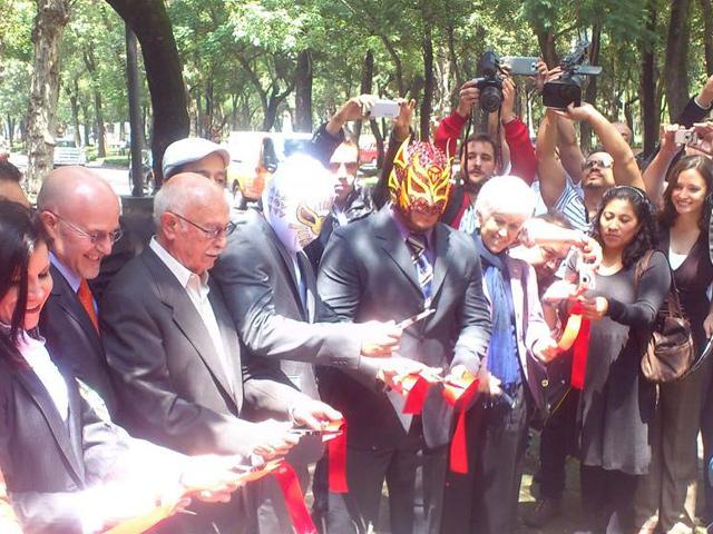 80 años de Lucha Libre en la Galería Abierta de Chapultepec