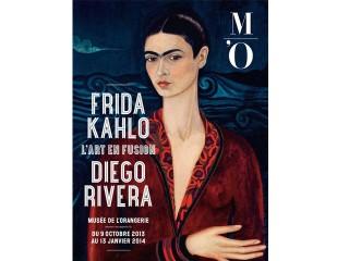 Cartel oficial de la exposición Arte en Fusión, obras de Frida y Diego