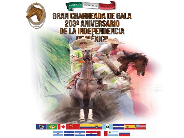 Gran Charreada de Gala 203º Aniversario de la Independencia de México