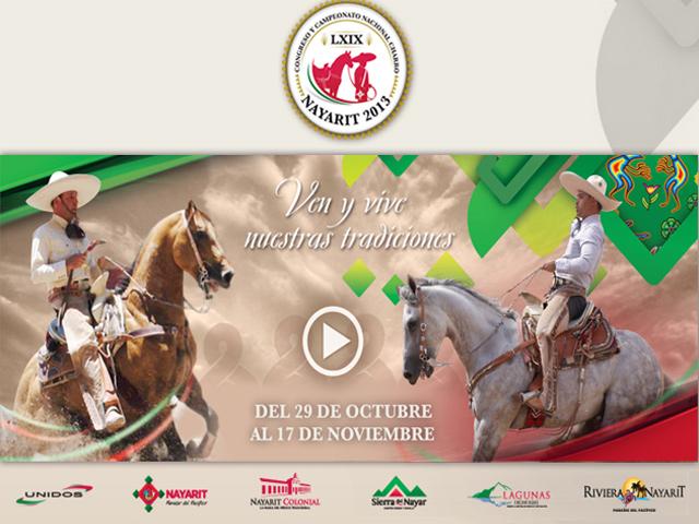 Tepic, sede del Congreso y Campeonato Nacional Charro 2013
