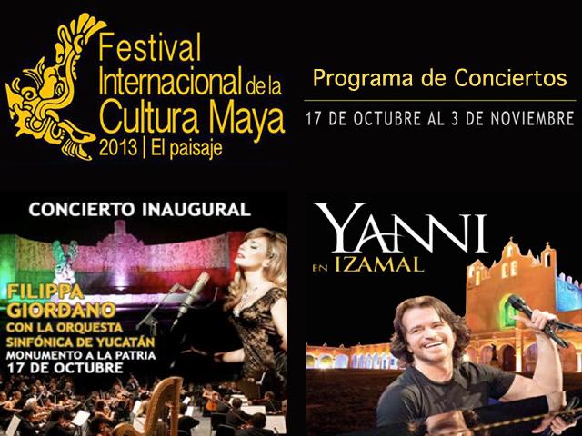Conciertos del Festival Internacional de la Cultura Maya 2013